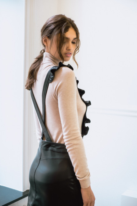 The Julia dress - faux leather