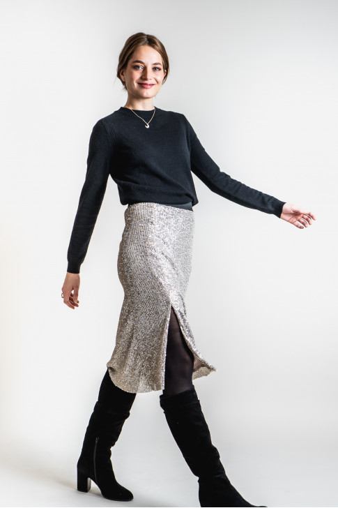 The silver Kevin skirt