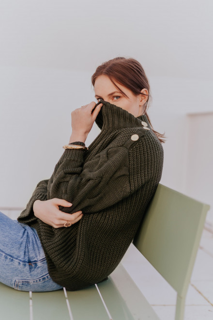 Éléonore sweater in khaki