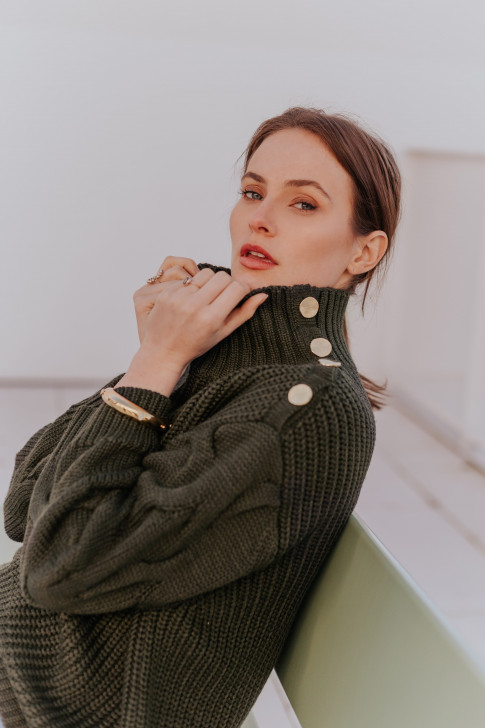 Khaki Éléonore sweater