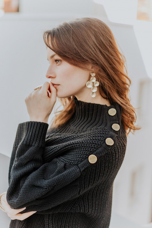 Éléonore sweater in black
