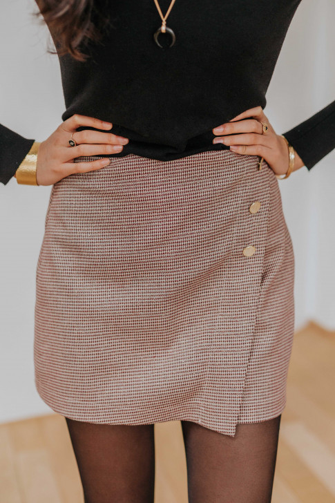 Burgundy Christelle short skirt