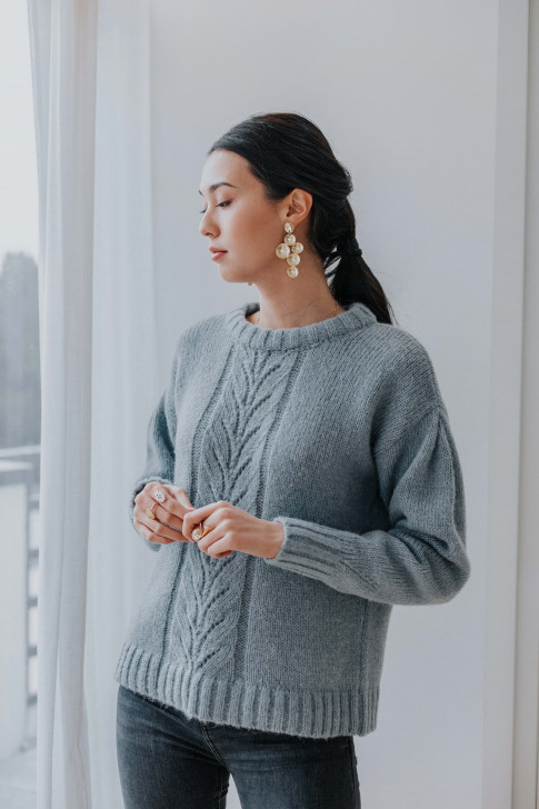 Blue capucine sweater