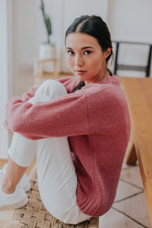Pink sweater Capucine