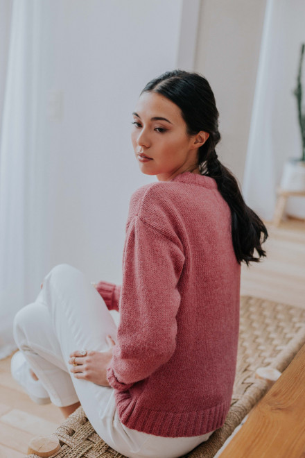 Pink sweater Capucine