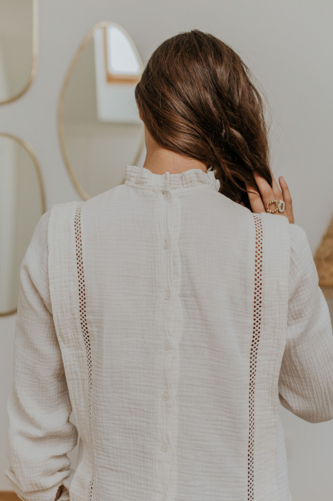 Off-white Claudia blouse