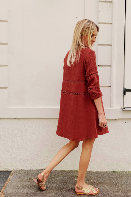 Terracotta Louise dress