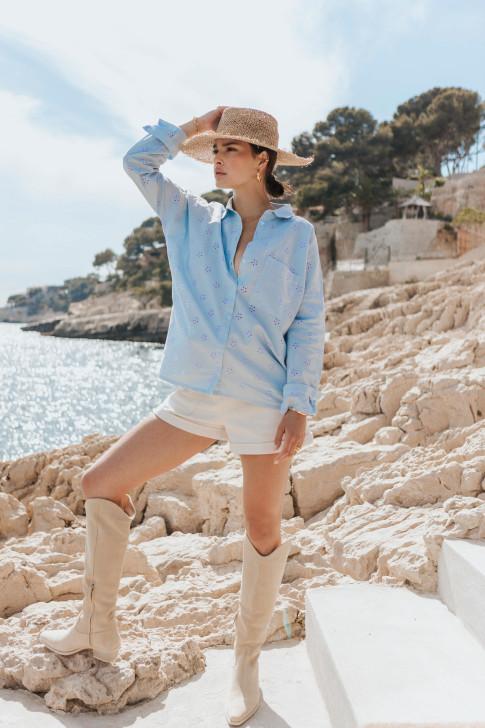 Shirt Elise english embroidery