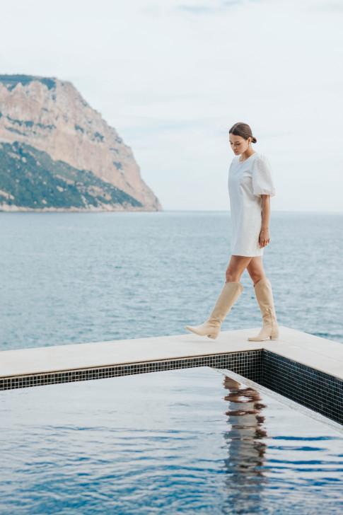 Alexandra dress with a pampas print