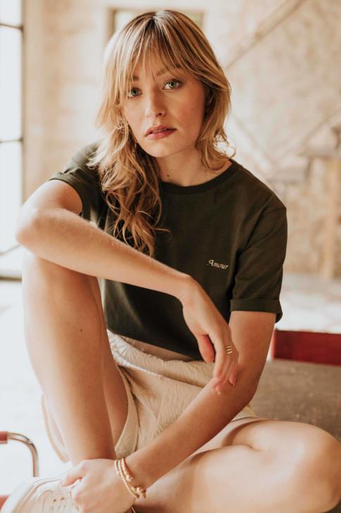 Ecru Flore reversible sweater