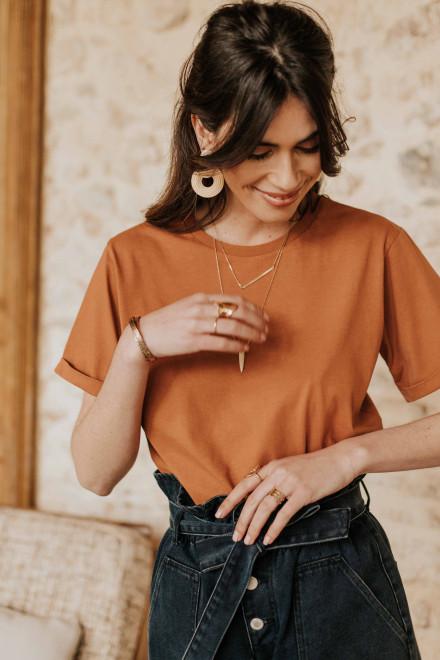 Flore reversible sweater in ecru