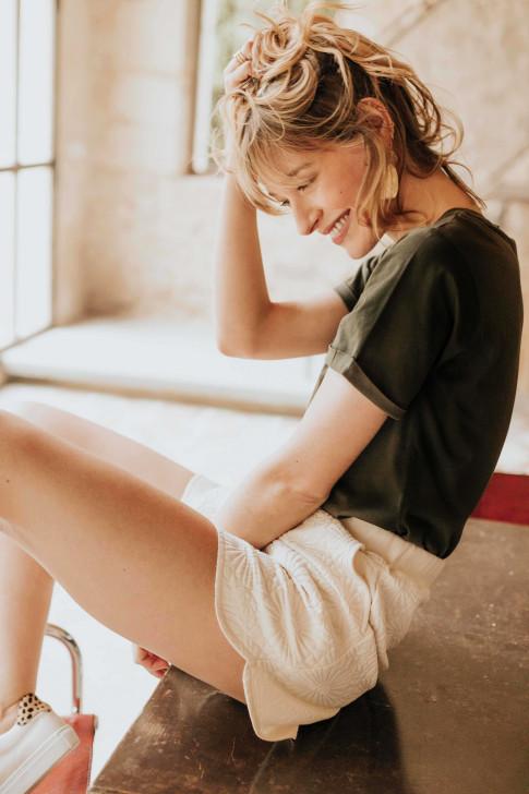 Black Flore reversible sweater