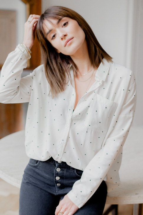 Fred shirt with polka dots