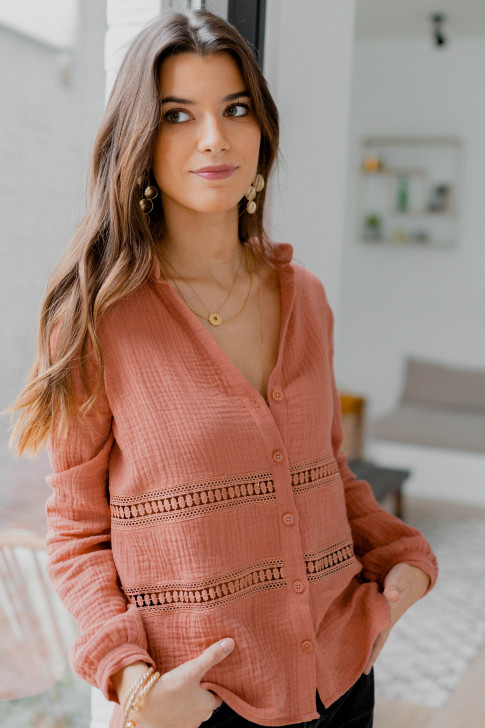 Charlotte shirt in blush