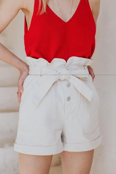 Cushion cover in ecru