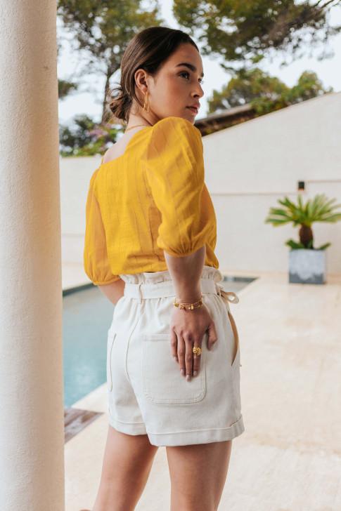 Striped jacquard square cushion cover