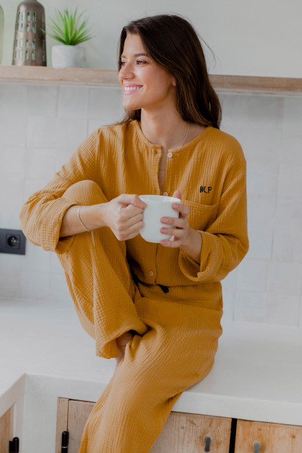 Lili pajamas in mustard yellow