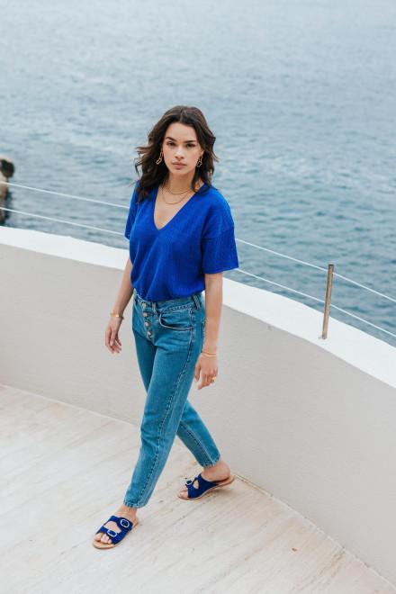 Leïla burgundy scarf