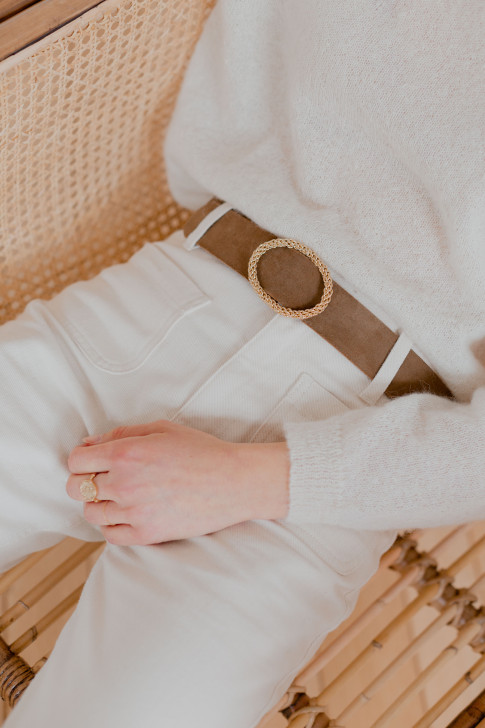 Léon belt in taupe