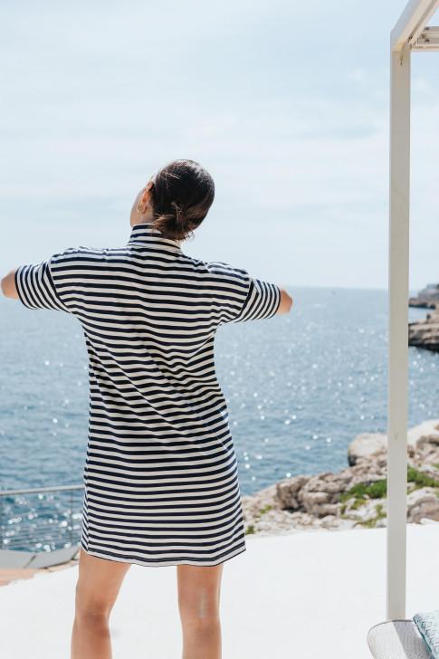 Reversible fuchsia Flore sweater