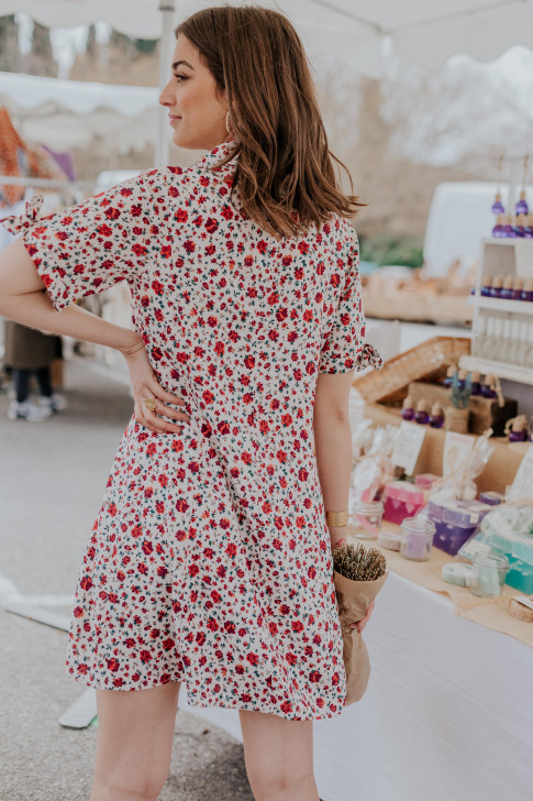 Gaby blooming print dress